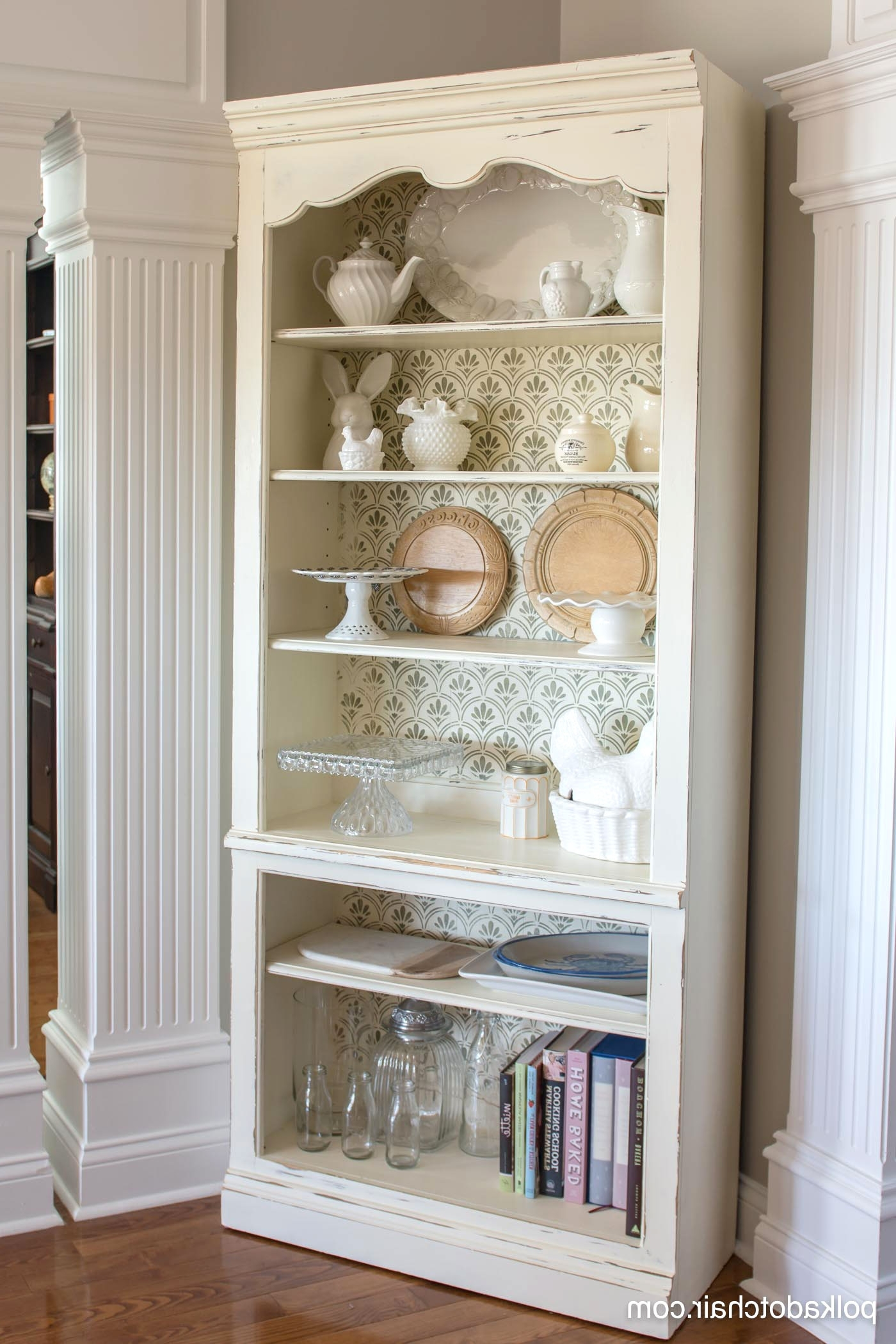 Newest Diy Stenciled Bookcase & Giveaway Throughout Chalk Paint Bookcases (View 10 of 15)
