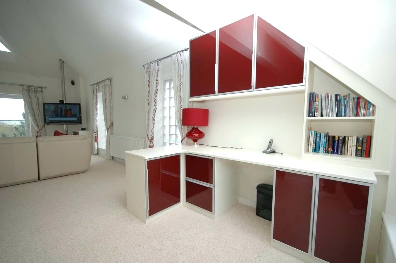 Newest Fitted Home Office Furniture With Office Design: Bespoke Home Office (View 10 of 15)