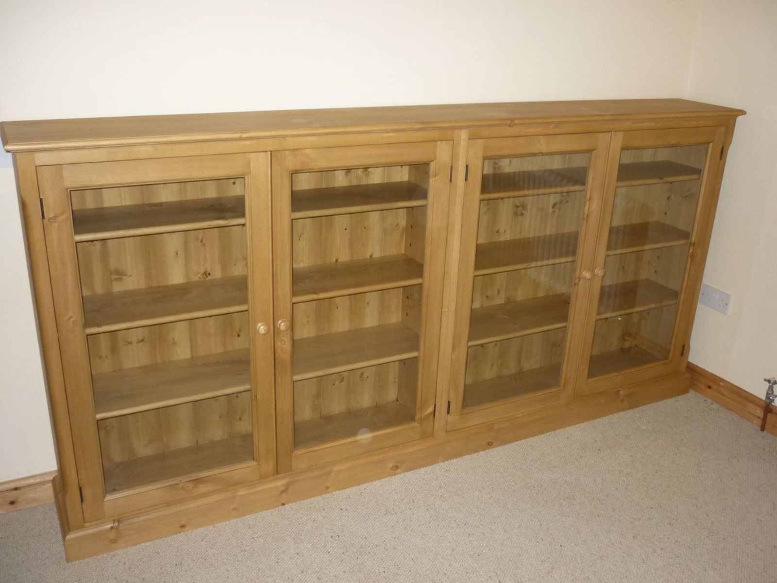 Newest Glazed Bookcases Inside Long Low Glazed Bookcase – Bookcases – Pine, Oak, Painted And (View 10 of 15)
