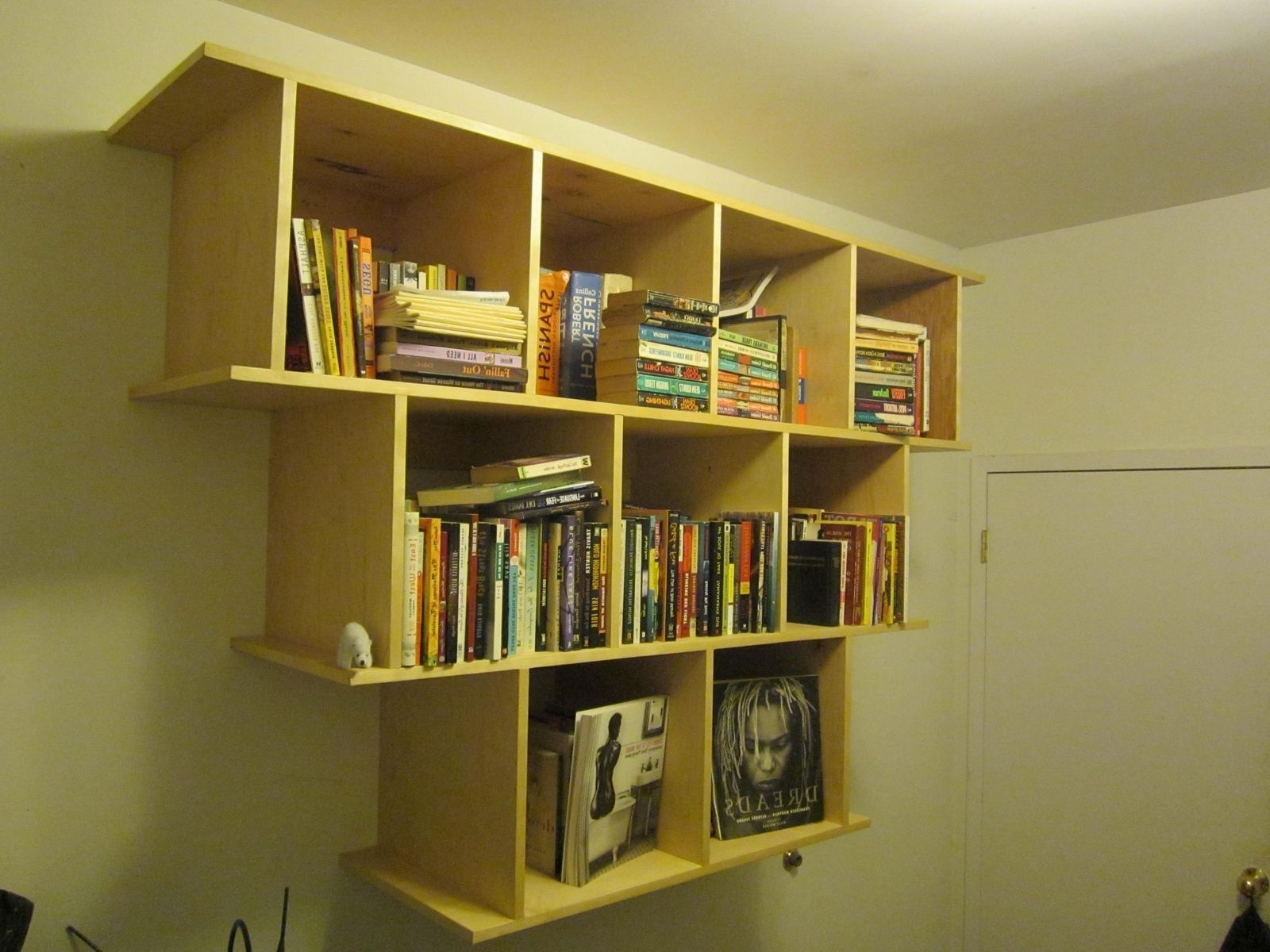 Newest Hand Crafted Wall Hanging Bookcase / Shelveswooden It Be Nice Regarding Wall Bookcases (View 5 of 15)