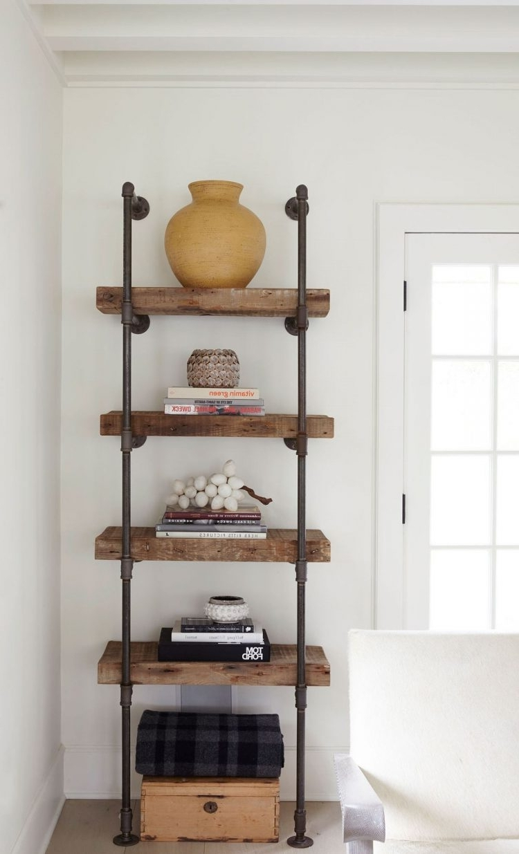 Newest Industrial Style Bookcases Pertaining To Bookshelf : Industrial Style Bookshelf Mission Style Bookshelf (View 9 of 15)