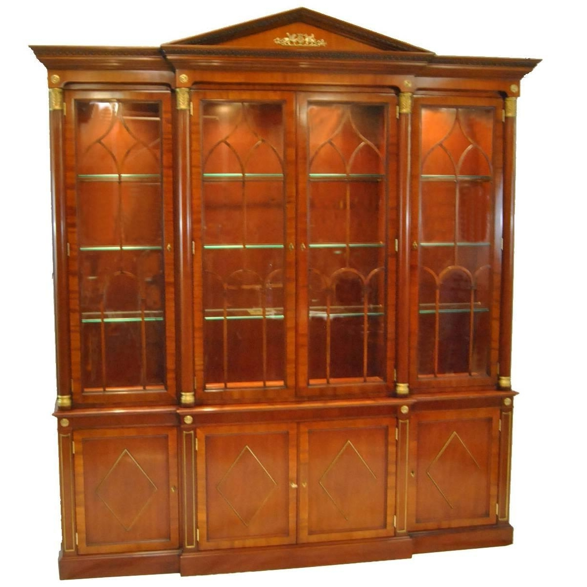 Newest Kindel Neoclassic Mahogany Breakfront China Cabinet For Sale At Within Modern Breakfront (View 10 of 15)