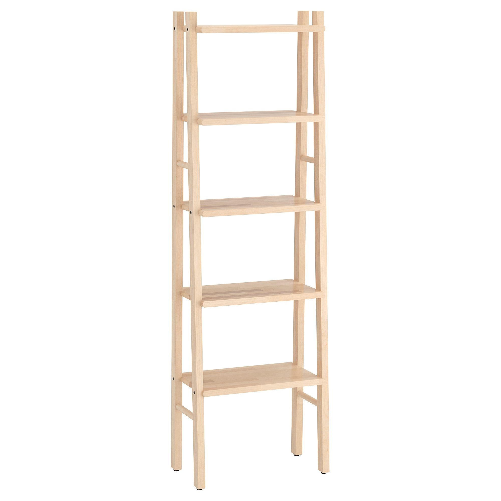 Newest Ladder Ikea Bookcases With Regard To Vilto Shelving Unit Birch 46x150 Cm – Ikea (View 5 of 15)