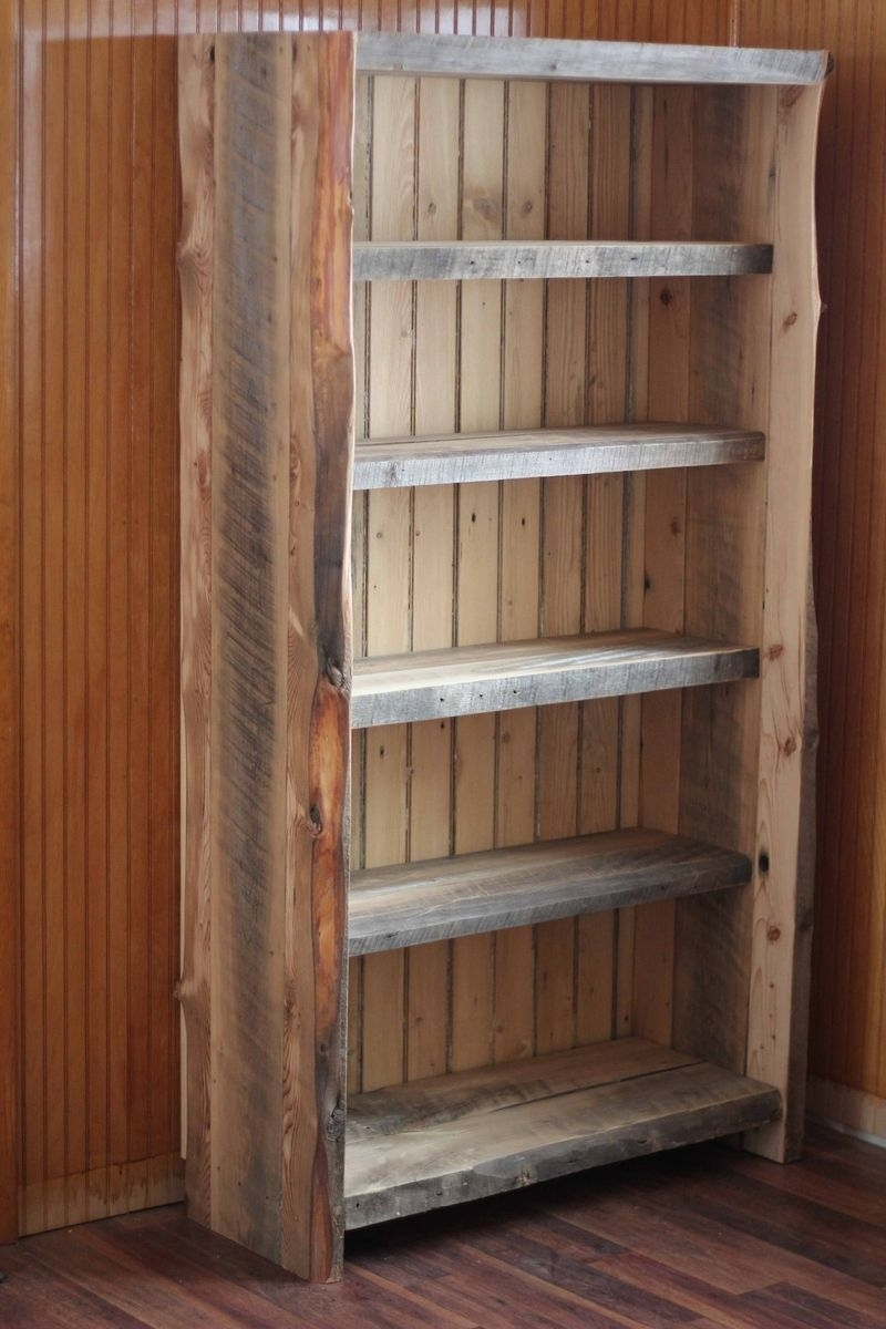 Newest Reclaimed Wood Bookcases Within Hand Made Reclaimed Wood Bookcasedecorus Furnishings (View 2 of 15)
