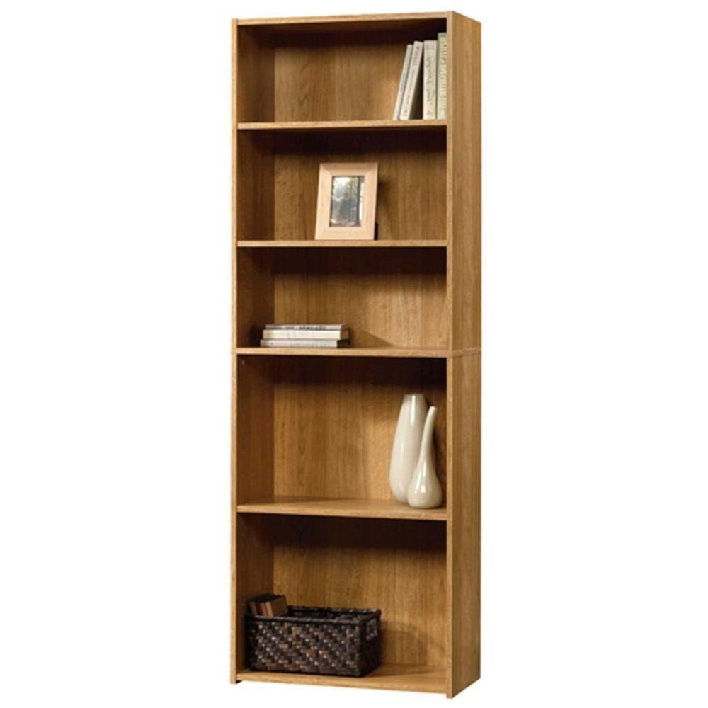 Newest Sauder Beginnings Highland Oak Open Bookcase 413324 – The Home Depot With Regard To Oak Bookshelves (View 15 of 15)