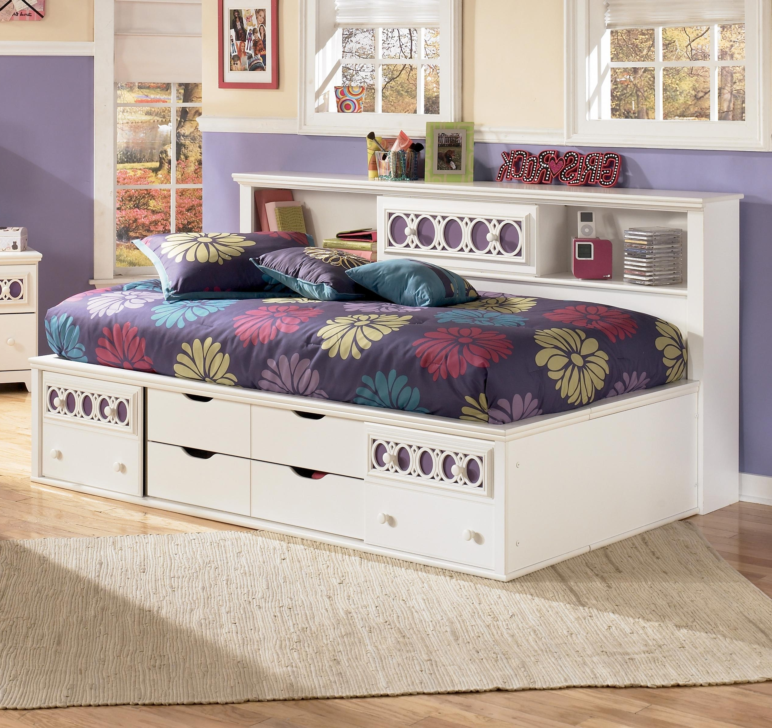 Newest Signature Designashley Zayley Twin Bedside Bookcase Daybed With Regard To Zayley Twin Bookcases (View 8 of 15)