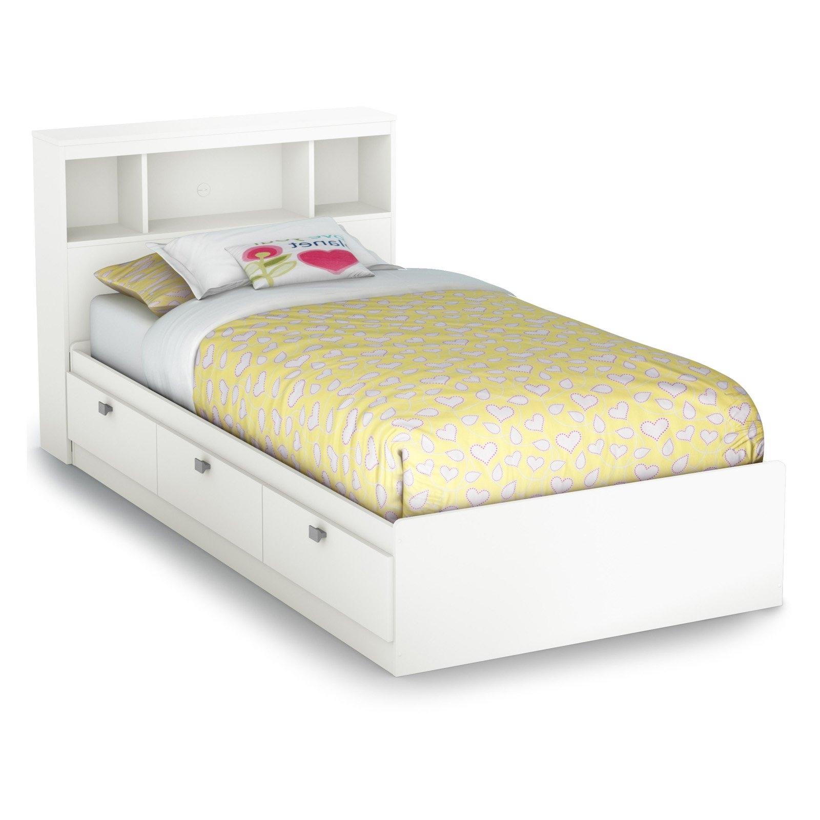 Newest Sparkling Bookcase Storage Platform Bed (View 10 of 15)