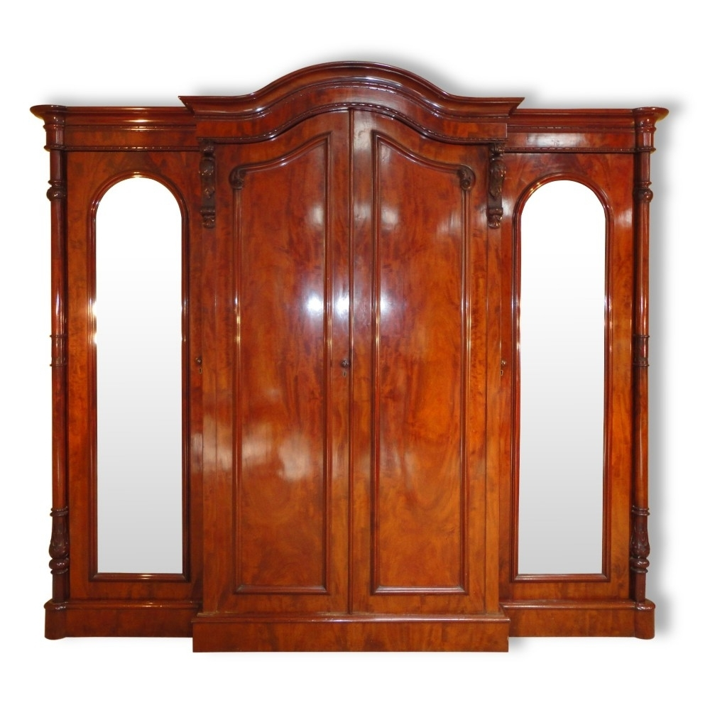 Newest Victorian Mahogany Four Door Breakfront Wardrobe (View 9 of 15)