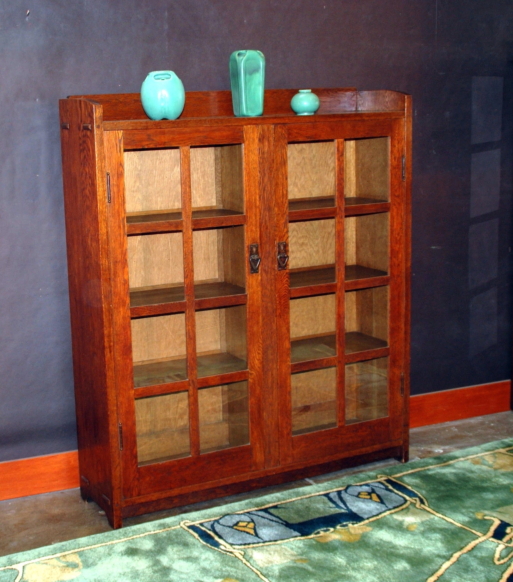Newest Voorhees Craftsman Mission Oak Furniture – Gustav Stickley 2 Door Regarding Stickley Bookcases (View 3 of 15)