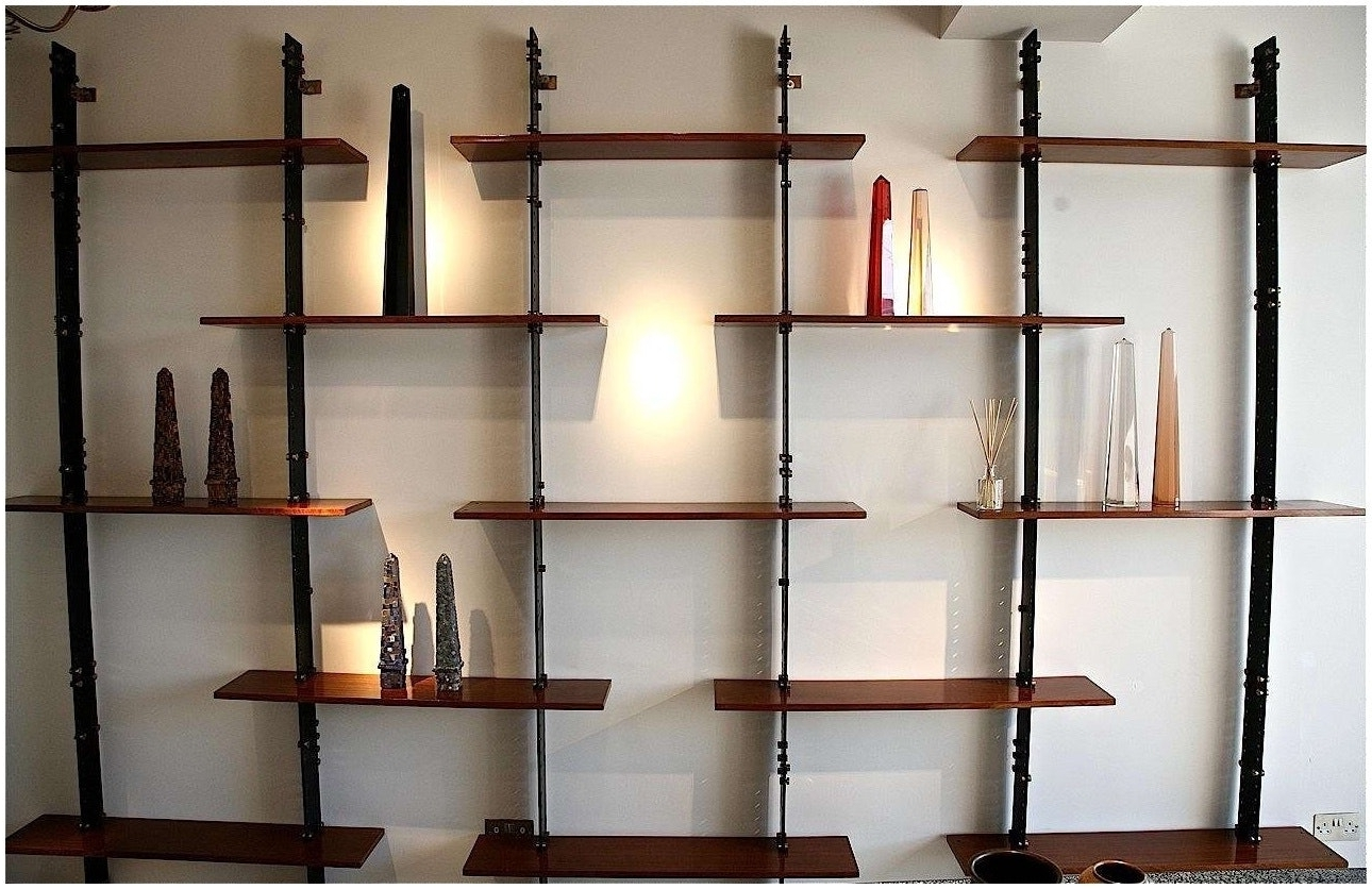 Newest Whole Wall Shelves Regarding Lighted Back Bar Wall Display Shelves Photo On Fabulous Modern (View 2 of 15)
