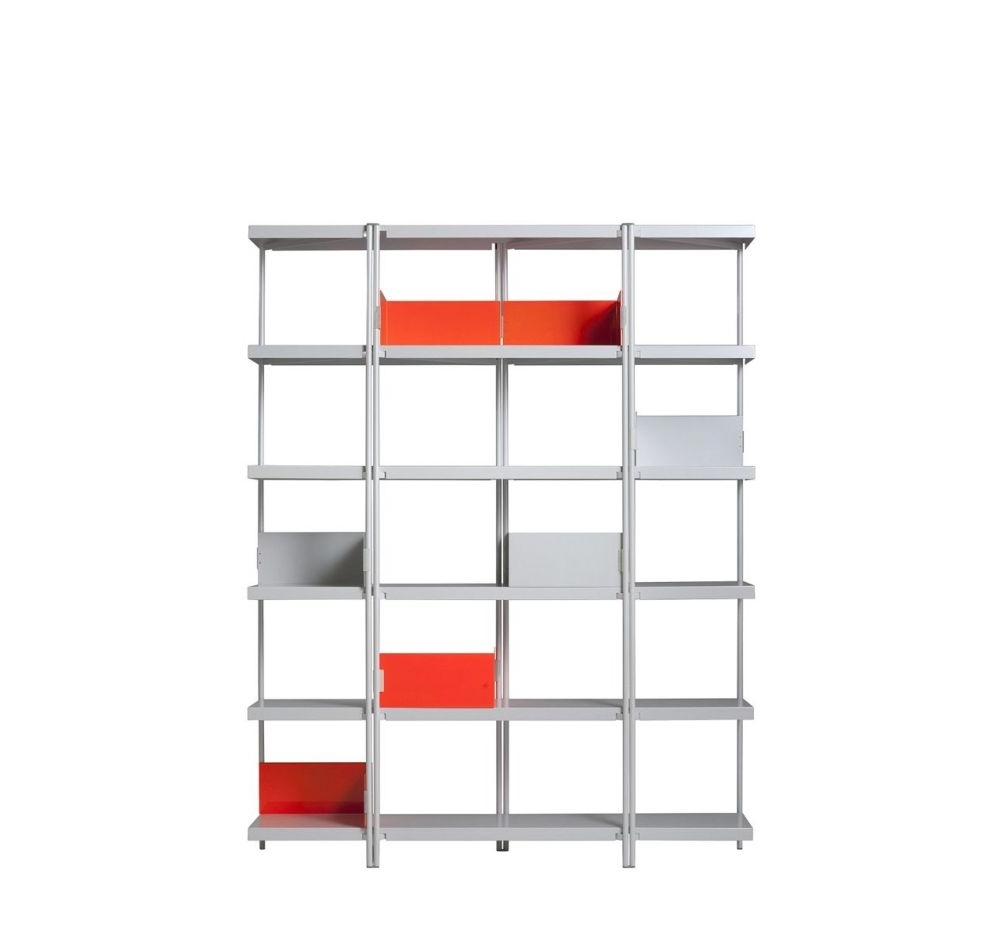 Newest Zig Zag Bookcases Throughout Zigzag High Bookcase Whitekonstantin Grcic For Driade (View 12 of 15)