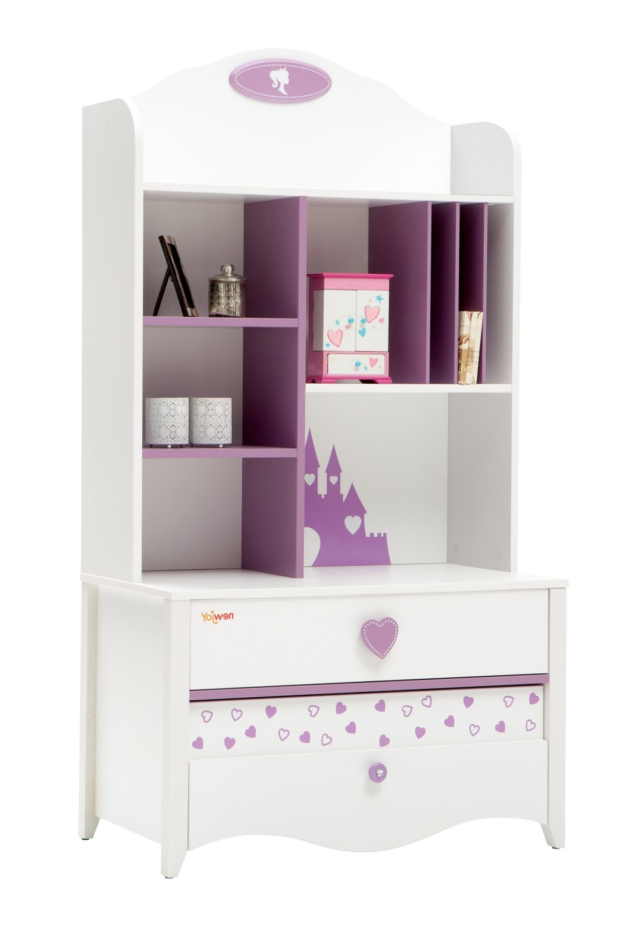 Newjoy Princess Children's Bookcase Intended For Well Liked Girls Bookcases (View 11 of 15)