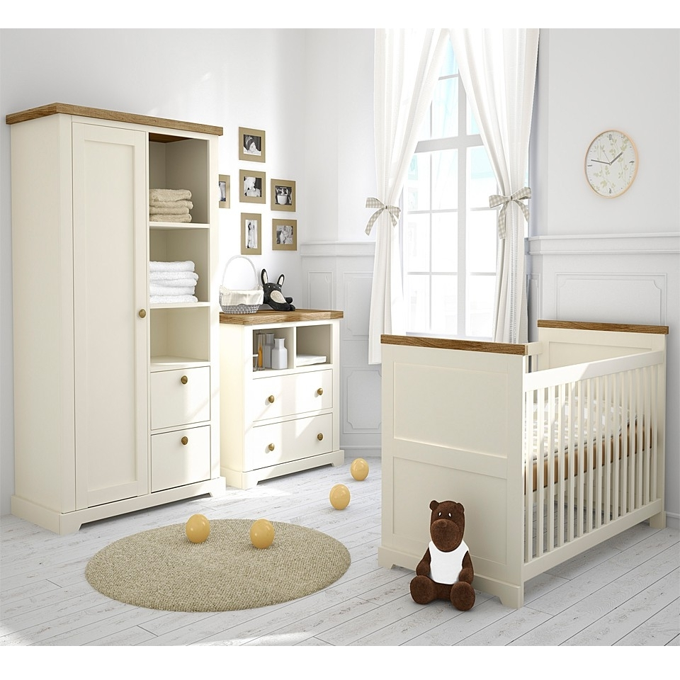 Nursery Furniture Set Room : Having Good Nursery Furniture Set Throughout 2017 Double Rail Nursery Wardrobes (View 11 of 15)