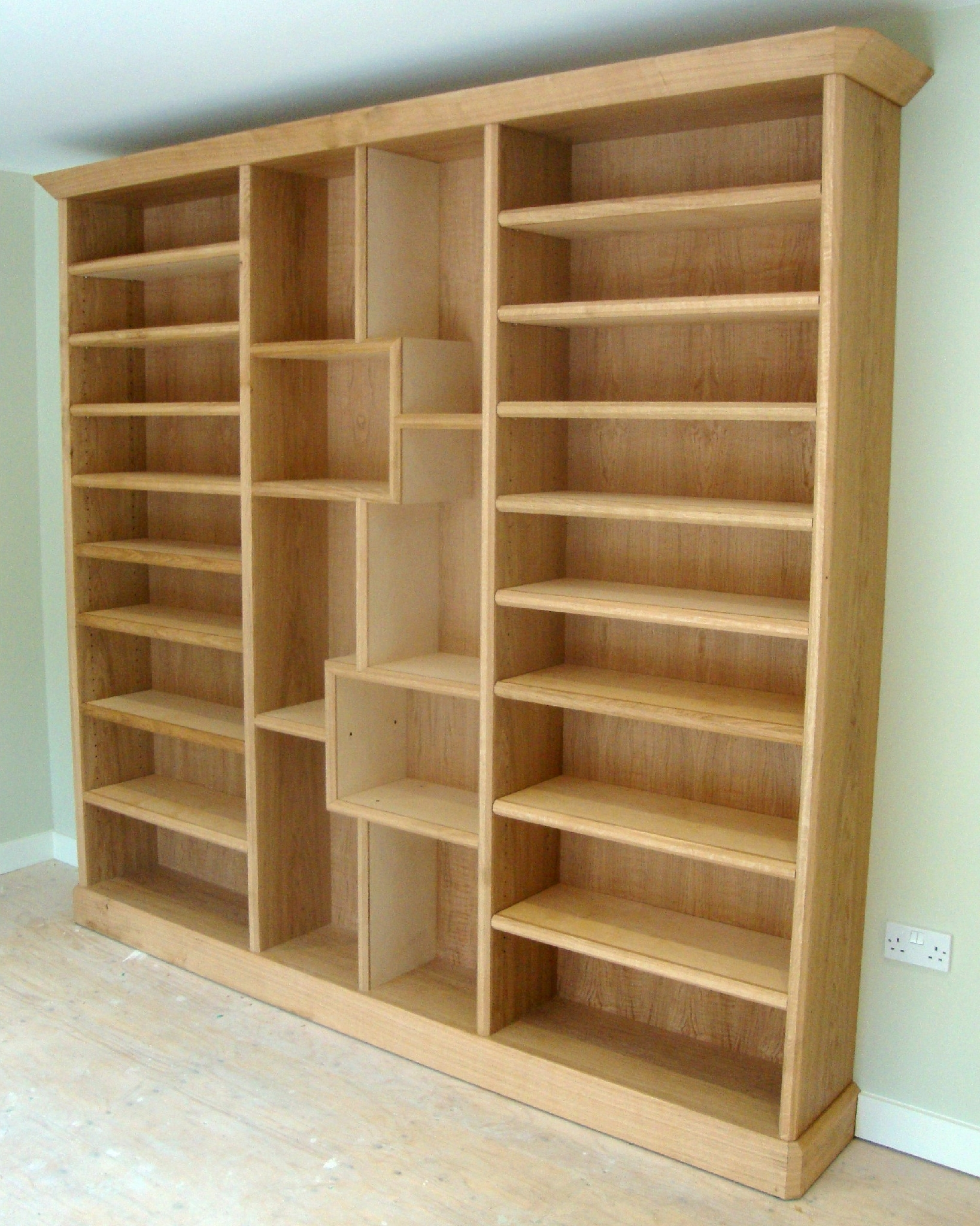 Oak Bookcase Crawford Bookcase Finished  (View 8 of 15)