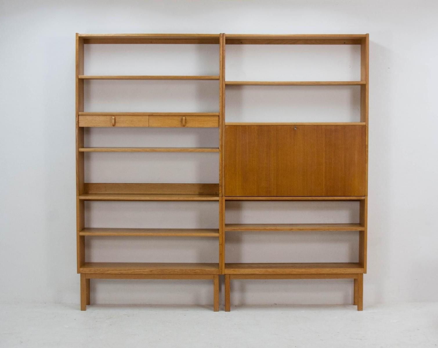 Oak Bookcases Inside 2018 Blond Oak Bookcasesbertie Fridhagen For Bodafors, 1964 For (View 10 of 15)