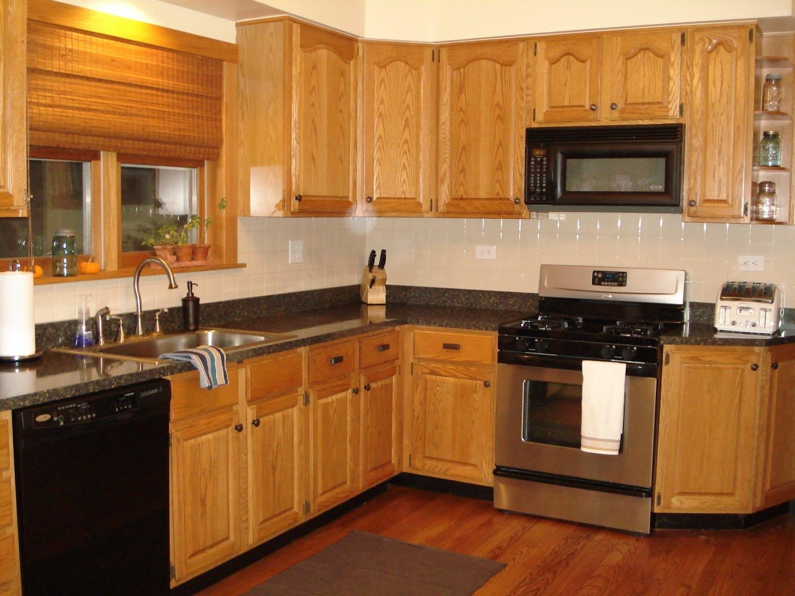 Oak Cupboards Inside Widely Used Oak Kitchen Cabinets Flooring – Oak Kitchen Cabinets Ideas And (View 10 of 15)