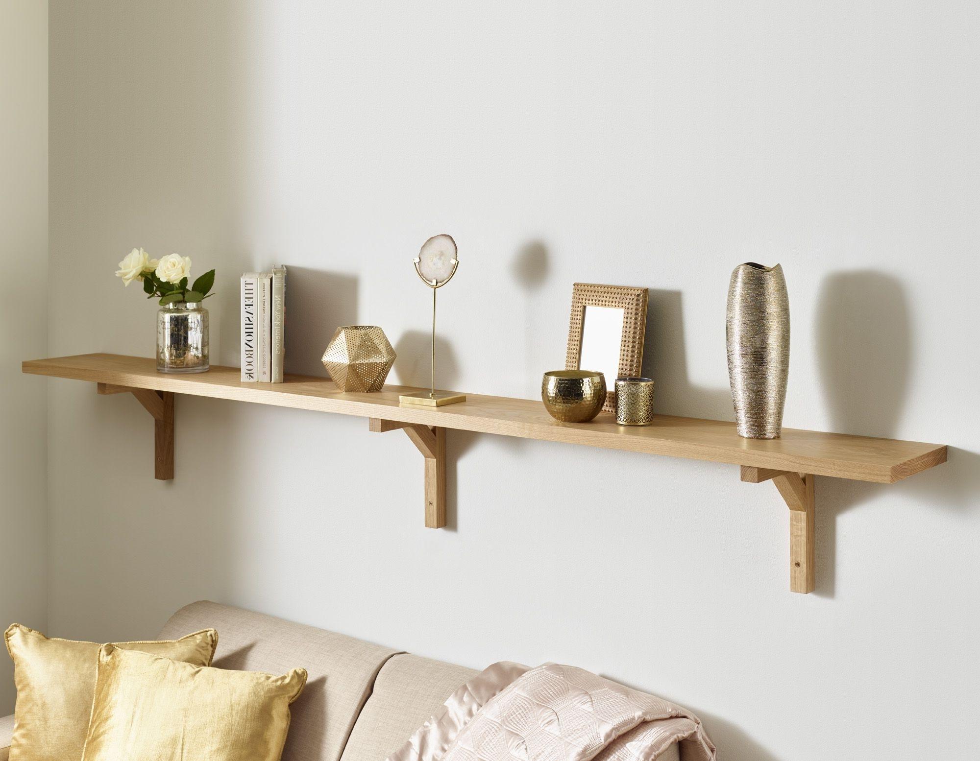 Oak Wall Shelves In 2018 Oak Wall Shelf Solid American White Oak Modern Oak Brackets (View 15 of 15)