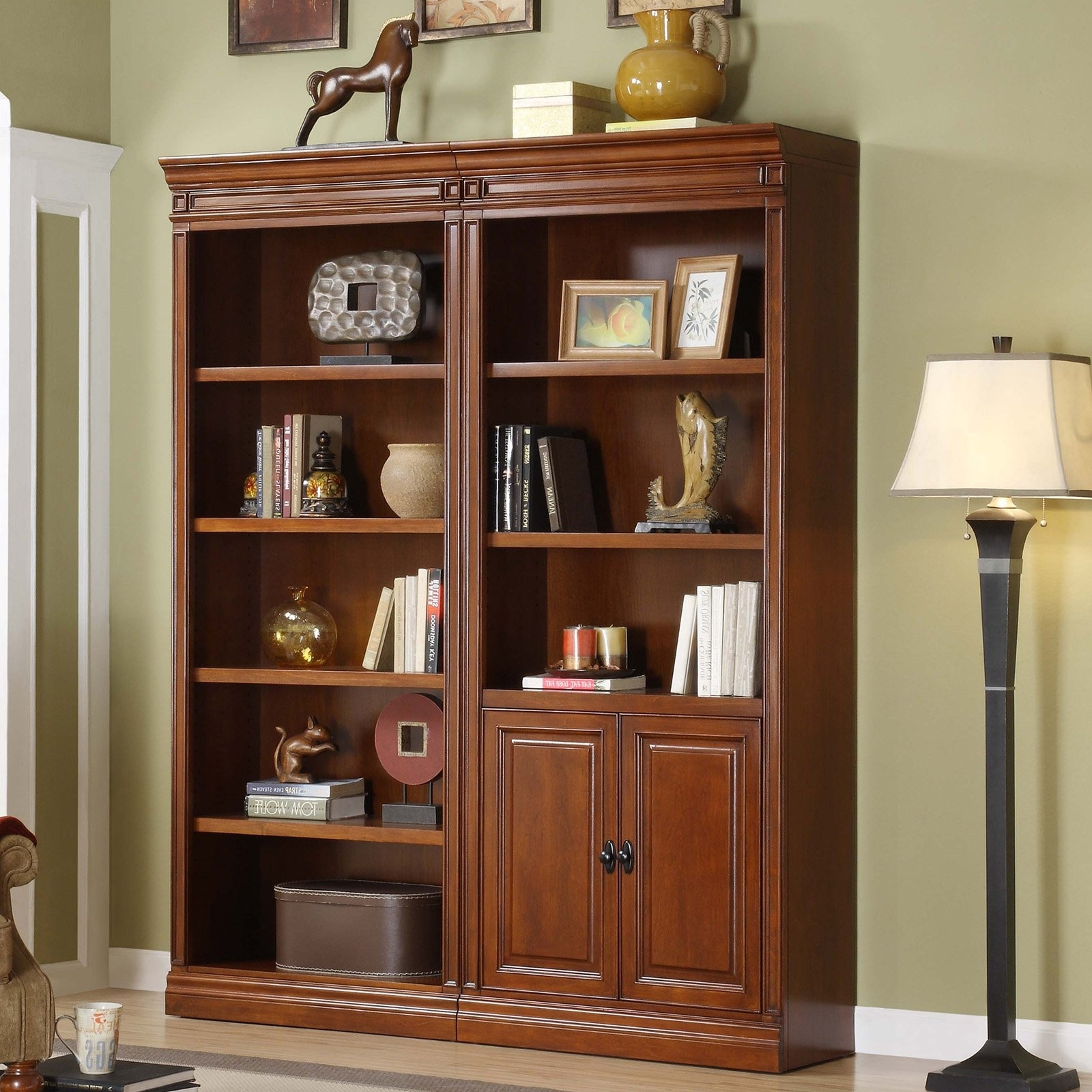Office Bookcases With Regard To Famous Furniture Home: New Office Bookcase With Doors Decorating Design (View 7 of 15)