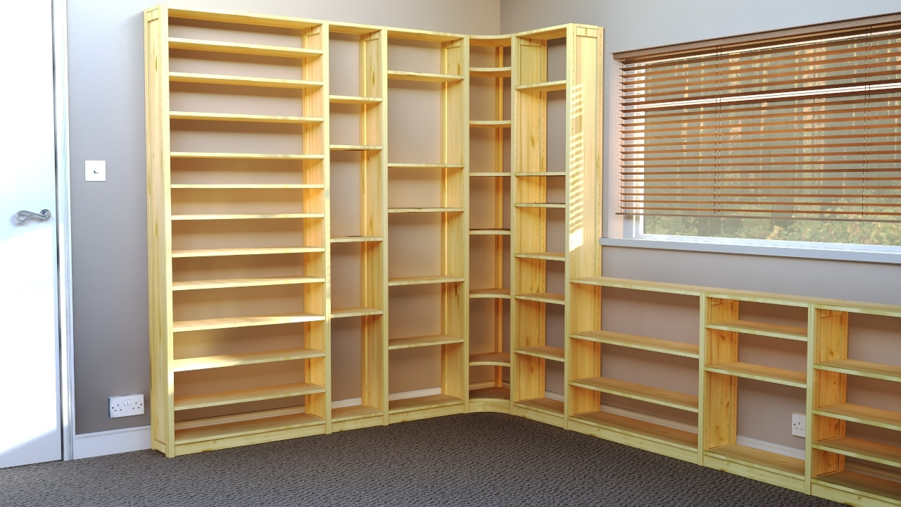 Office Shelves & Bookcases: Wood Shelving Units For Offices Throughout Preferred Book Shelving Systems (View 12 of 15)
