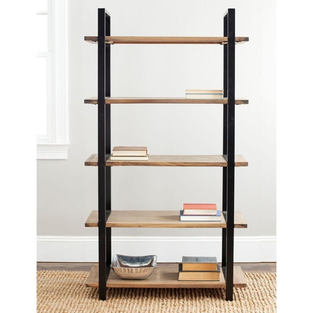 Open Bookcases For Most Popular Safavieh Scott Brown Open Bookcase Amh6590A – The Home Depot (View 2 of 15)
