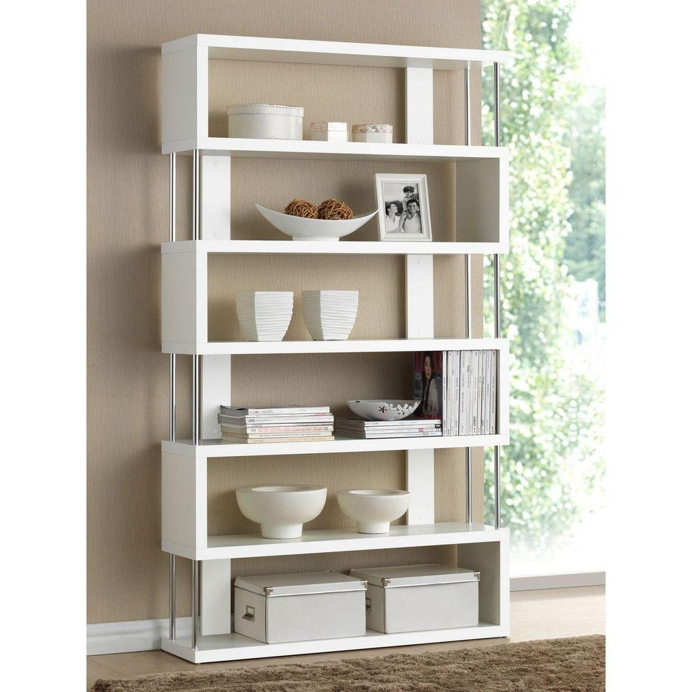 Open Bookcases With Regard To Popular Baxton Studio Barnes Dark Brown Wood 6 Tier Open Shelf 28862 (View 14 of 15)
