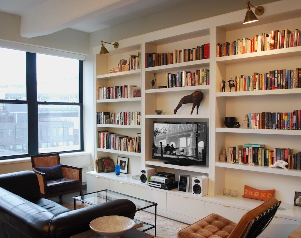 Open Shelves In Bookshelves With Tv Space (View 6 of 15)