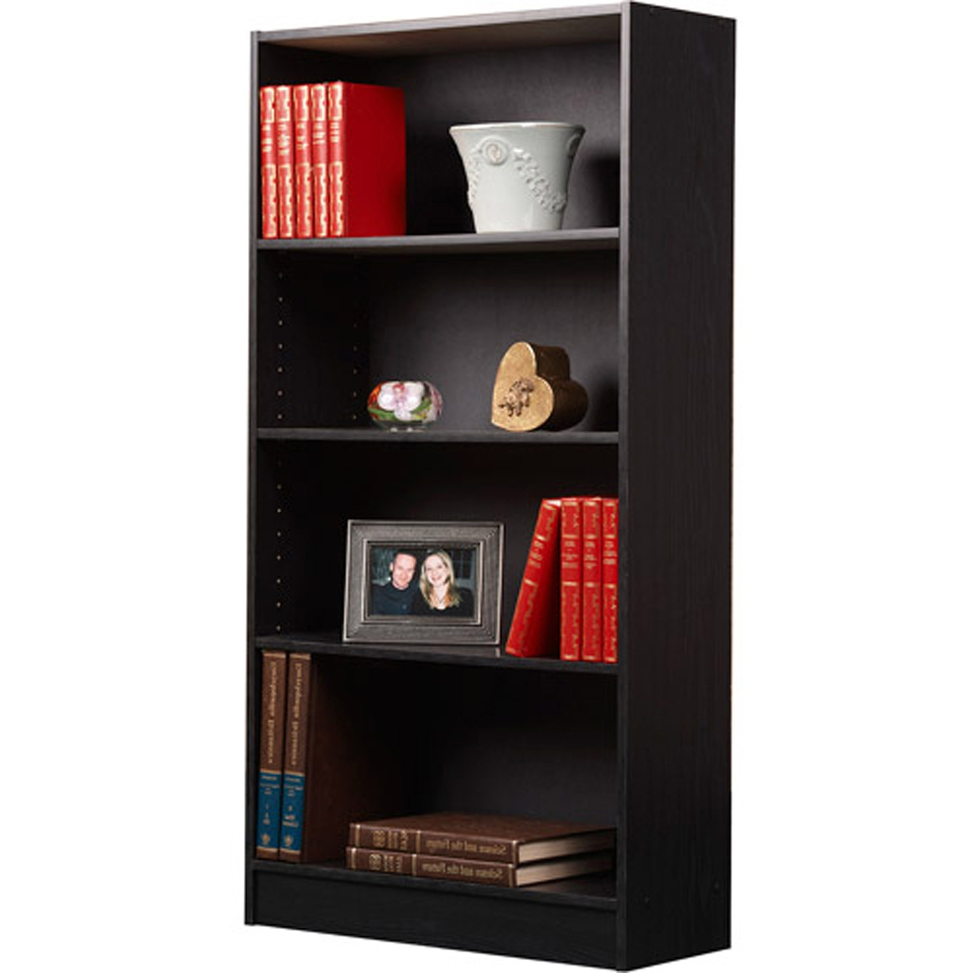Orion 4 Shelf Bookcases, Set Of 2 – Walmart In Preferred Black Bookcases (View 12 of 15)