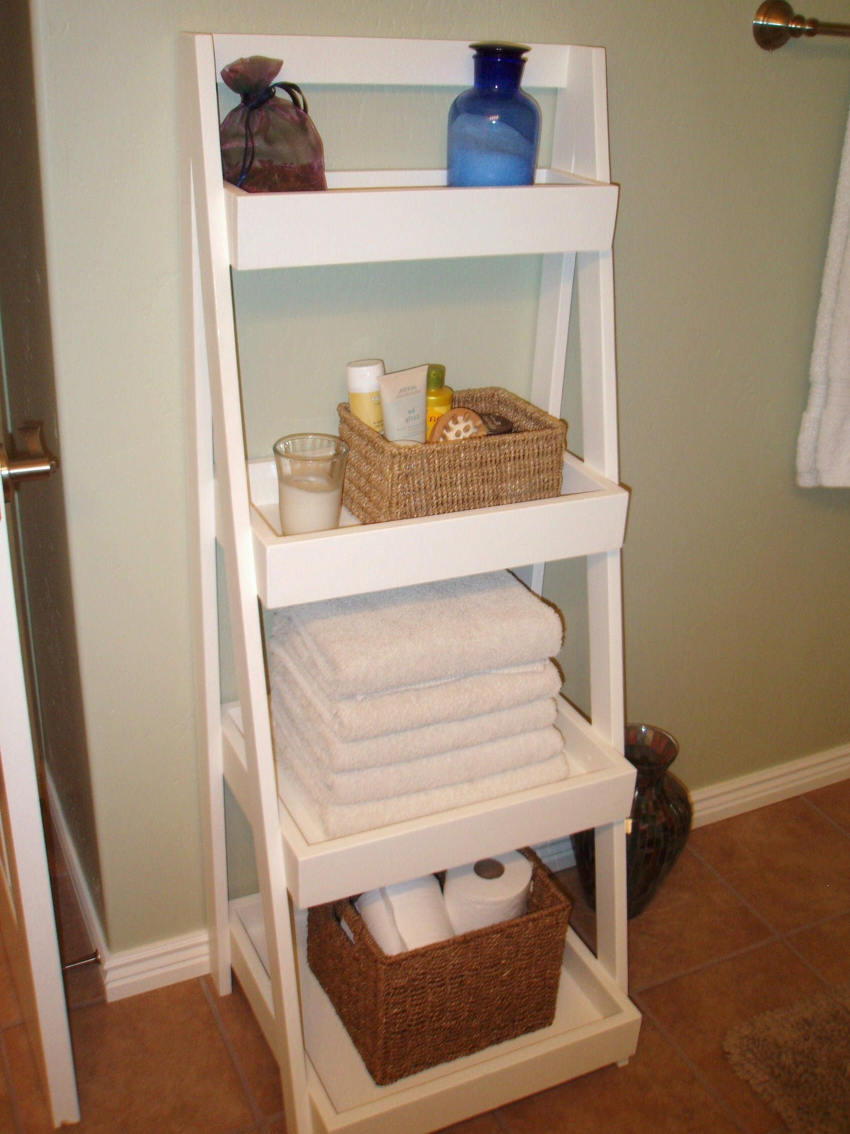 Our New Ladder Shelf! – Diy Projects Within Current White Ladder Shelf (View 8 of 15)