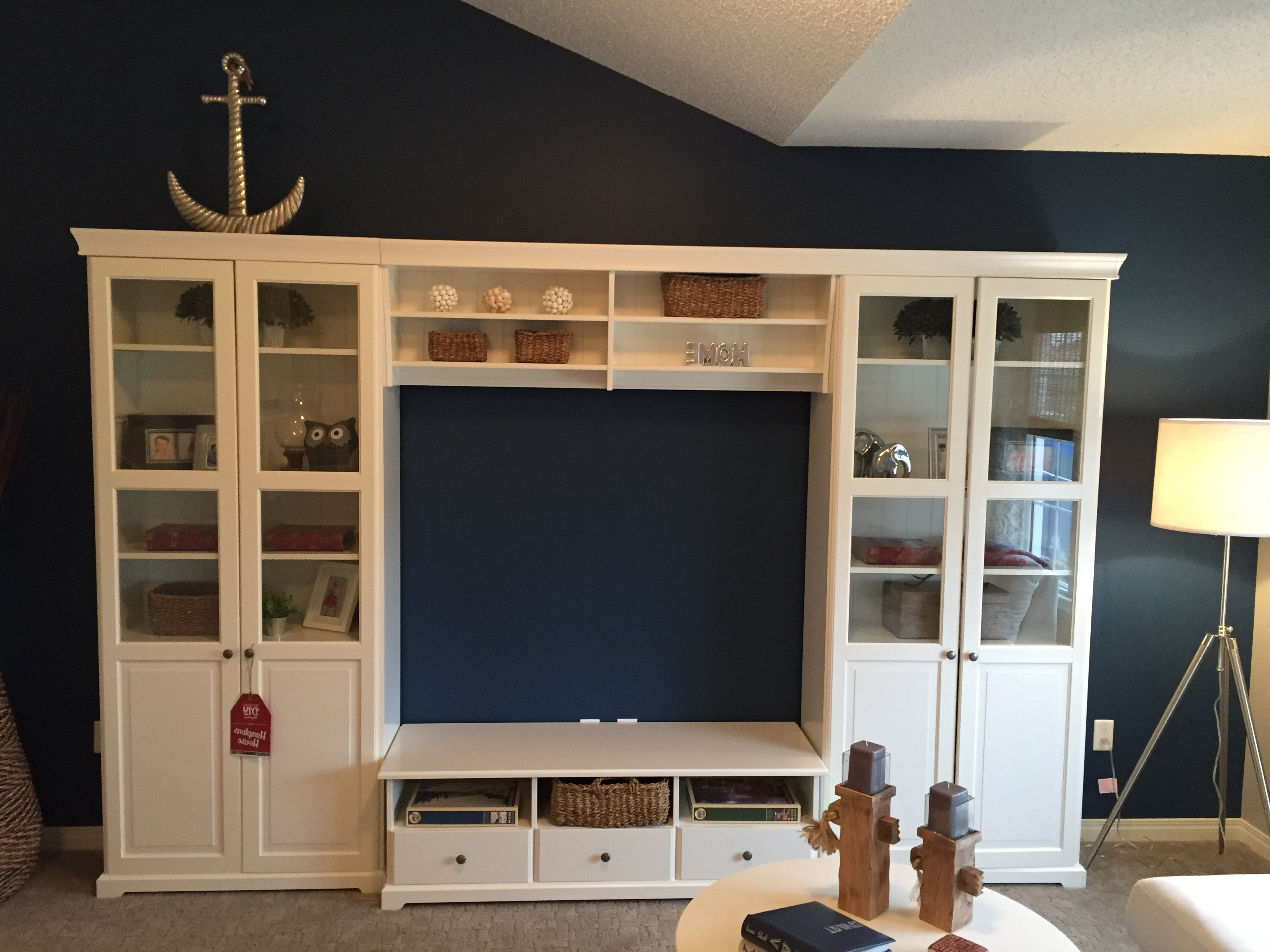 Our Tv In The Hamptons Inspired Lake Summerside Show Home Is The For Most Popular Tv Bookcases Combination (View 9 of 15)