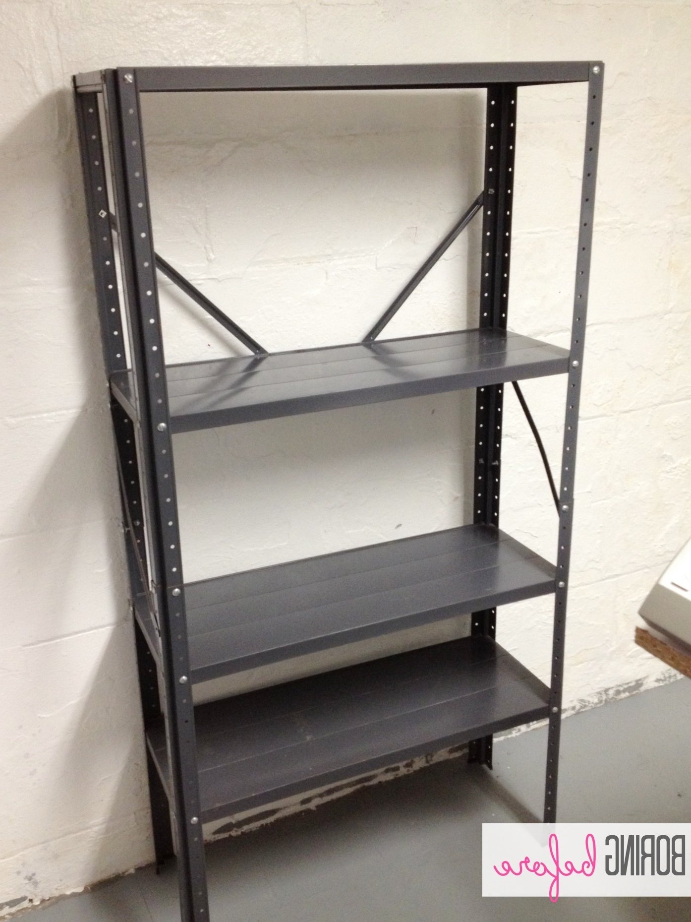 Painted Shelving Units Intended For Preferred Inexpensive Craft Room Shelving – Classy Clutter (View 7 of 15)