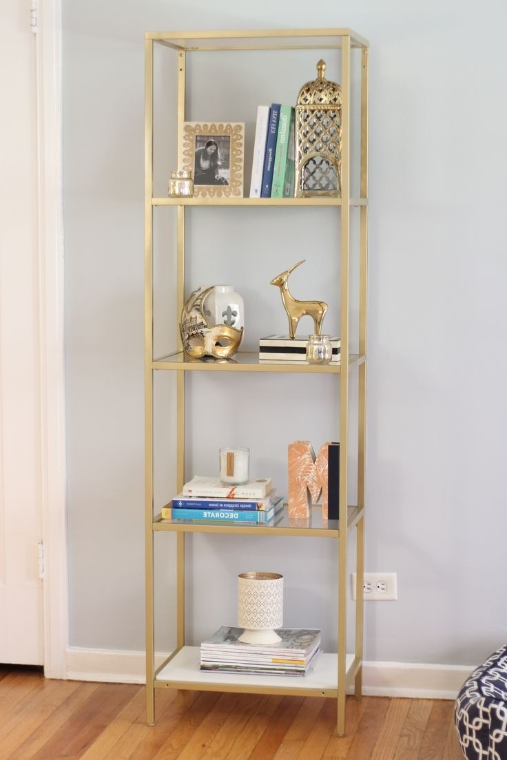 Painted Wood Bookcases For Newest Best 25+ Gold Shelves Ideas On Pinterest (View 15 of 15)