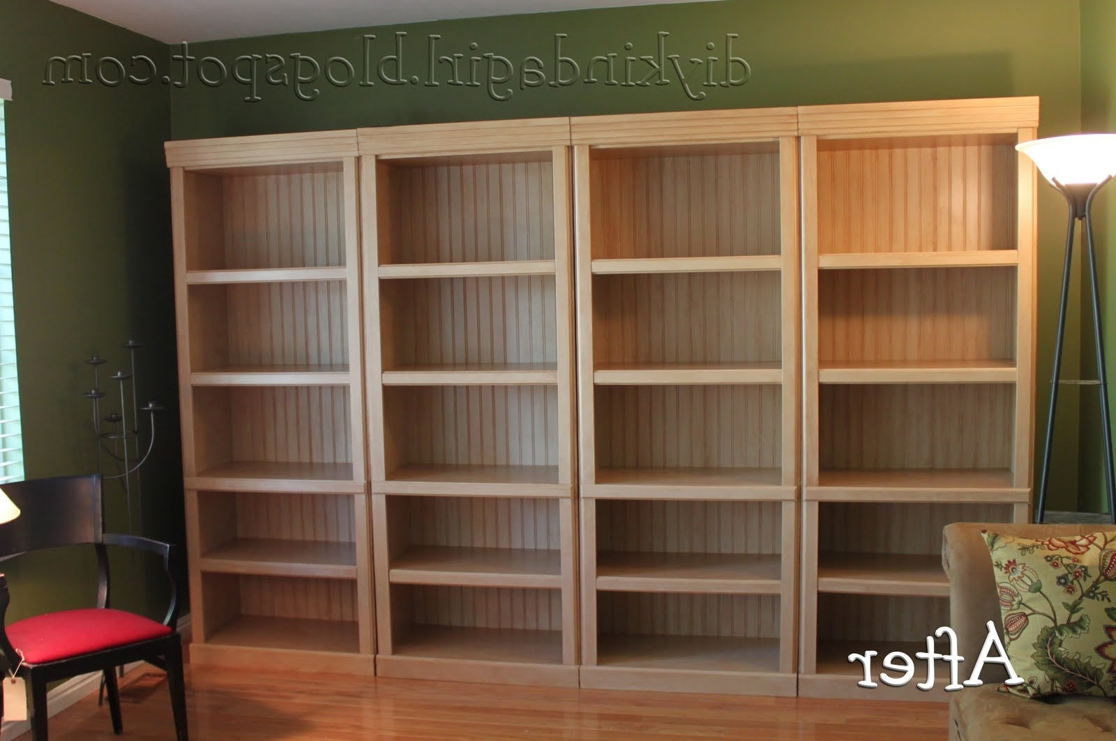 Painted Wood Bookcases Inside Most Current Diy Kinda Girl: How To Paint Laminate (View 9 of 15)