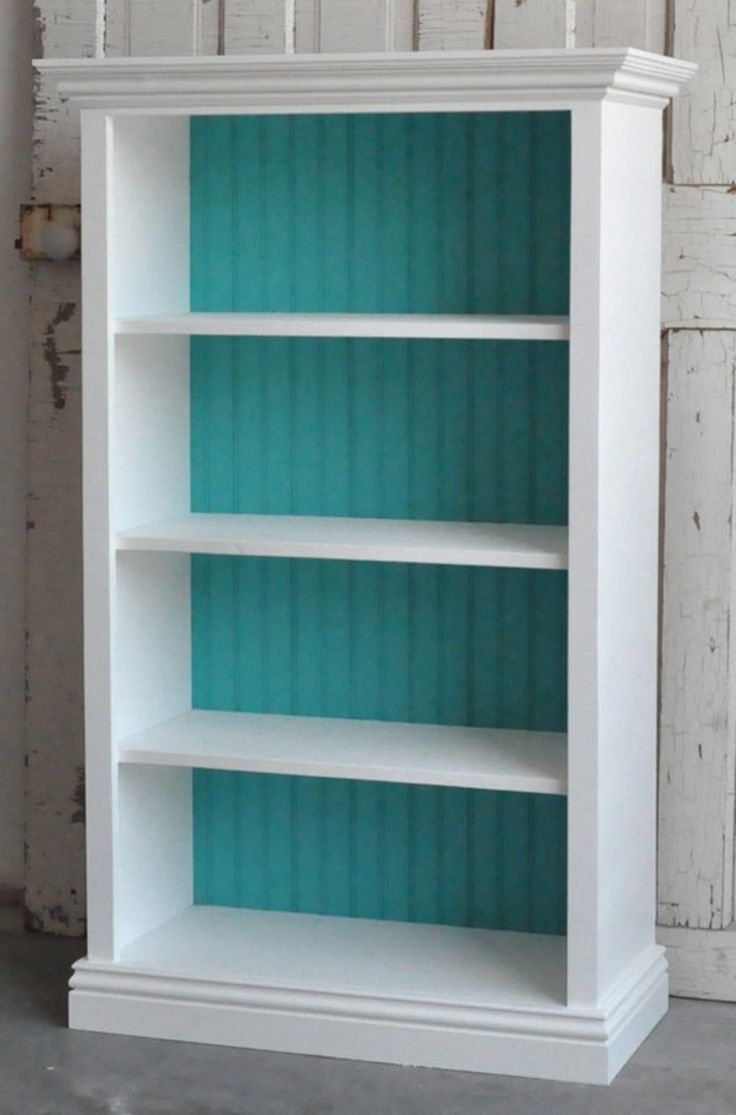 Painted Wood Bookcases Throughout Widely Used White And Wood Bookcase Bookshelves Painted Sensational Image (View 7 of 15)