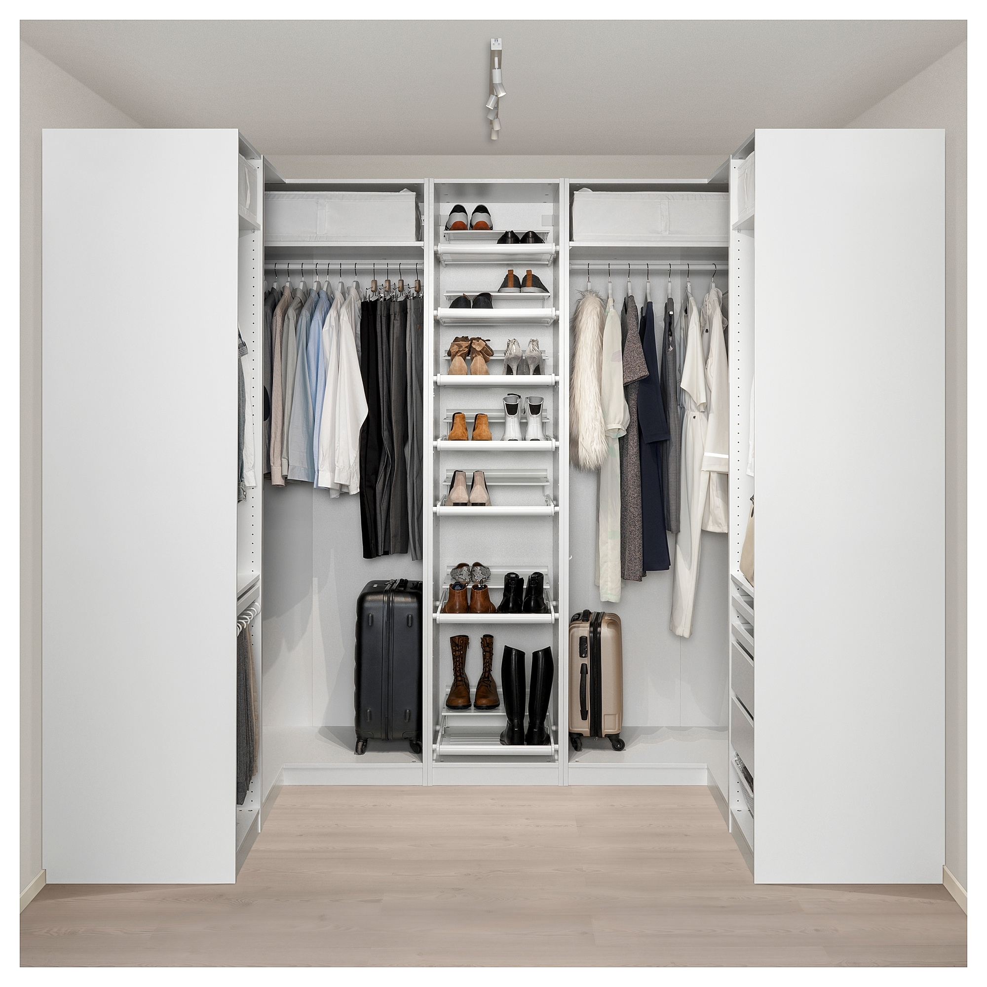 Pax Corner Wardrobe White 160/273/160X236 Cm U2013 Ikea Throughout Well Known  Corner