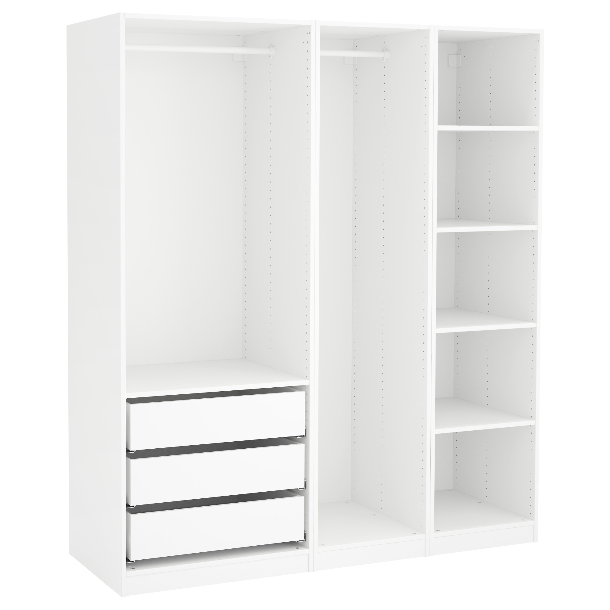 Pax Wardrobe White 175X58X201 Cm – Ikea Pertaining To Well Liked Wardrobes Drawers And Shelves Ikea (View 10 of 15)
