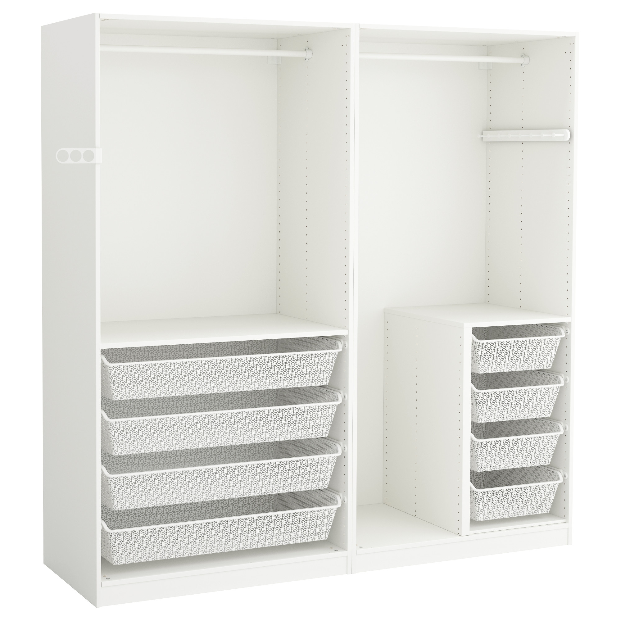 Pax Wardrobe White 200X58X201 Cm – Ikea Pertaining To Fashionable Wardrobes Drawers And Shelves Ikea (View 11 of 15)