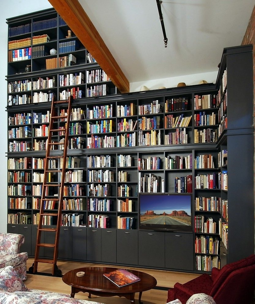 Featured Photo of Full Wall Bookcases