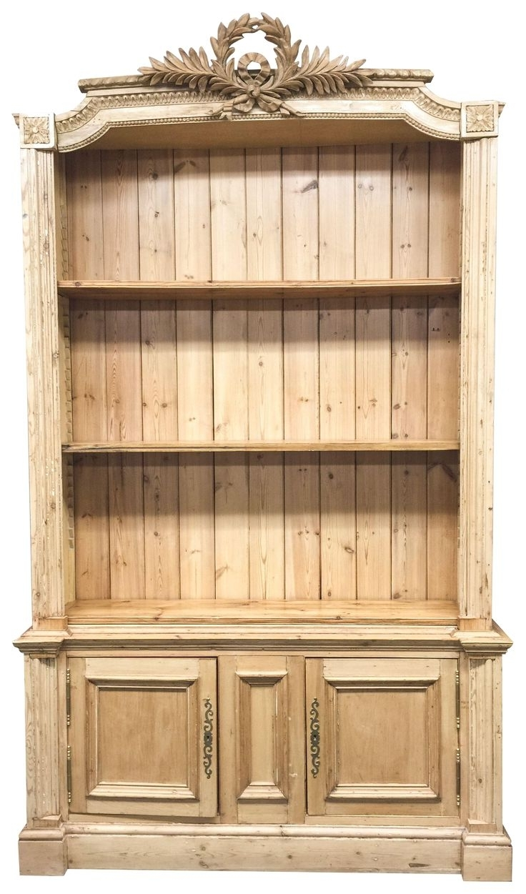 Pine Bookcases In Well Liked Bookcase Corona Panama Book Dvd Shelf Drawer Display Solid Waxed (View 6 of 15)