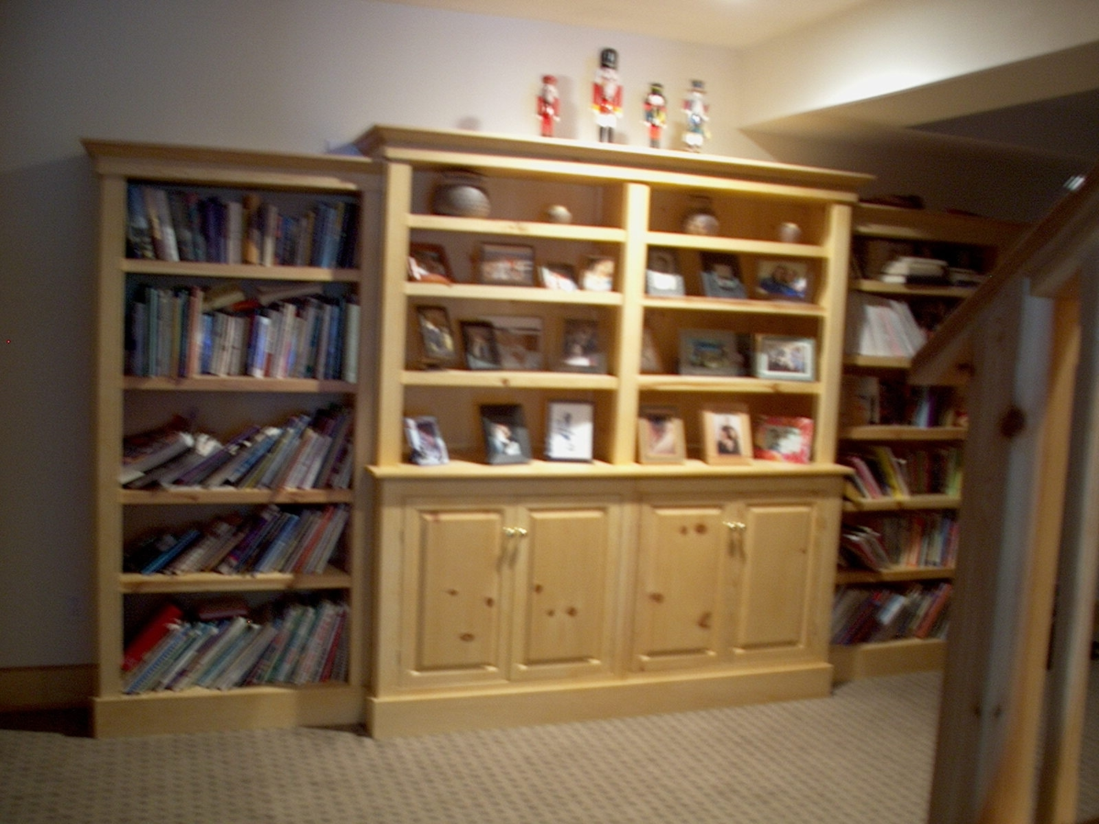 Pine Bookcases Within Trendy Stephan Woodworking – Built In Pine Bookcases (View 4 of 15)