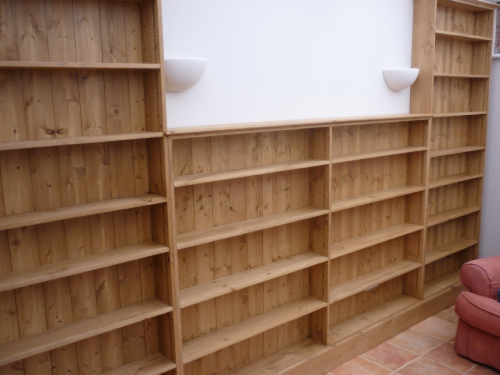 Pine Slim Bookcase – Bookcases – Pine, Oak, Painted And Bespoke Throughout Best And Newest Slim Bookcases (View 8 of 15)