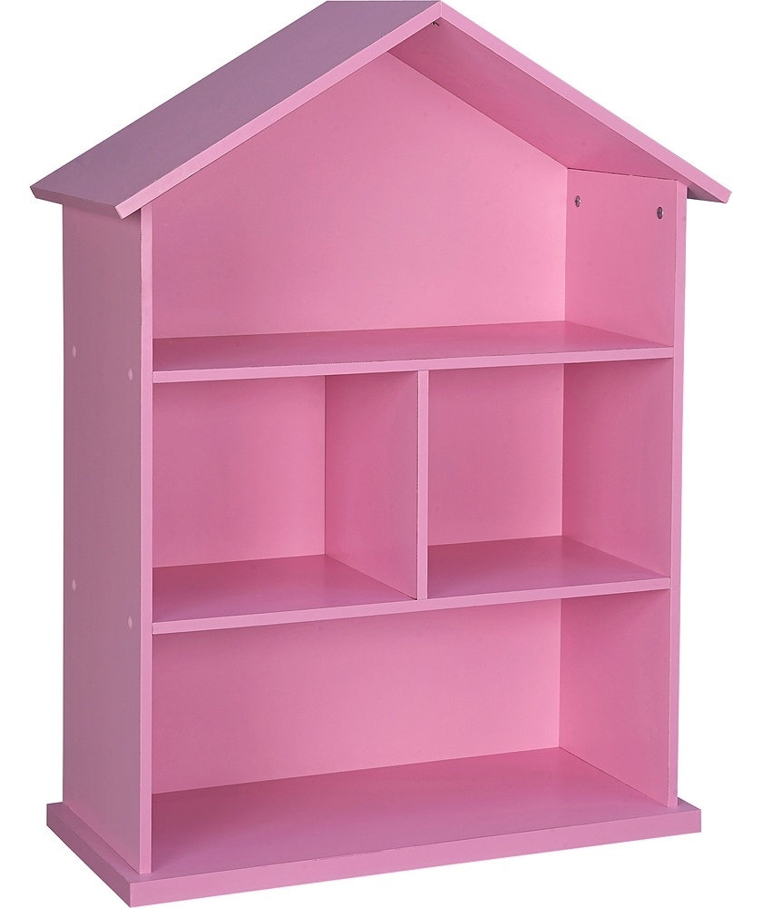 Pink Bookcases With Widely Used Mia Dolls House Bookcase At Argos Co