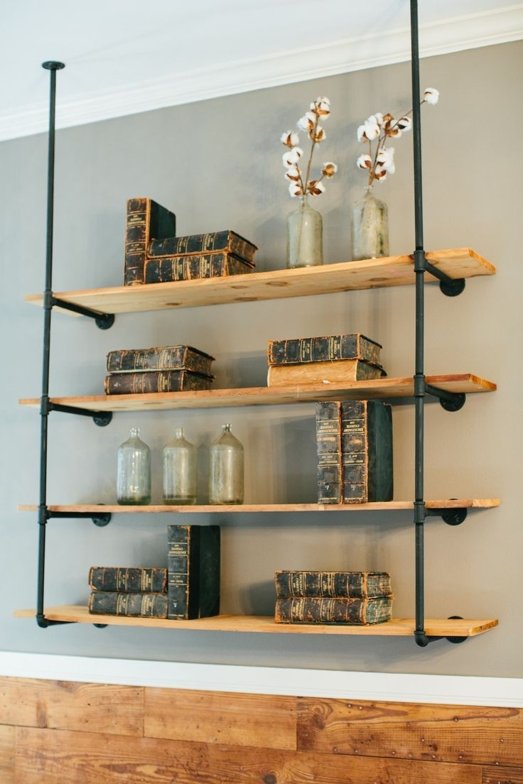 Pipe Bookcases With Fashionable Image Result For Shelves From Galvanized Plumbing Pipe (View 10 of 15)