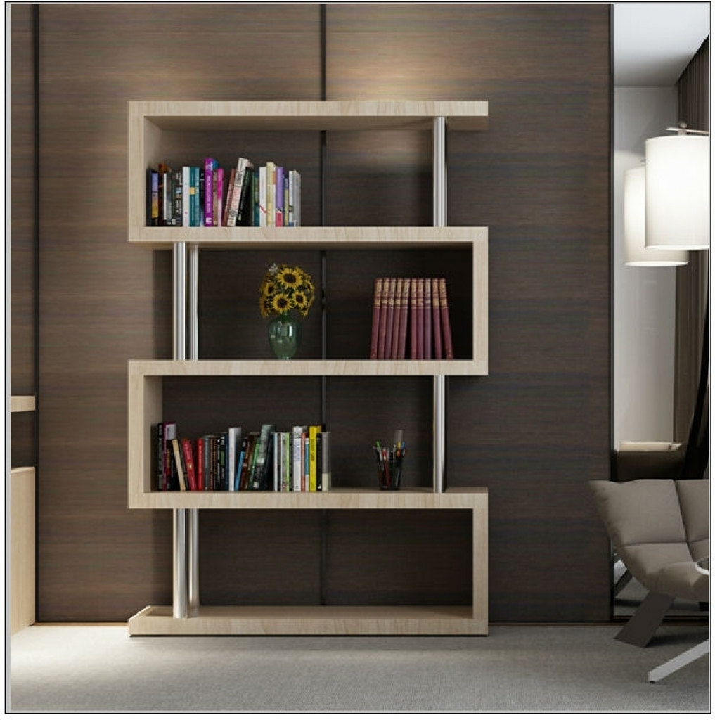 Popular 2017 Mdf Wooden Modern Design Book Racks Library Furniture Buy With Book Cabinet Design (View 3 of 15)