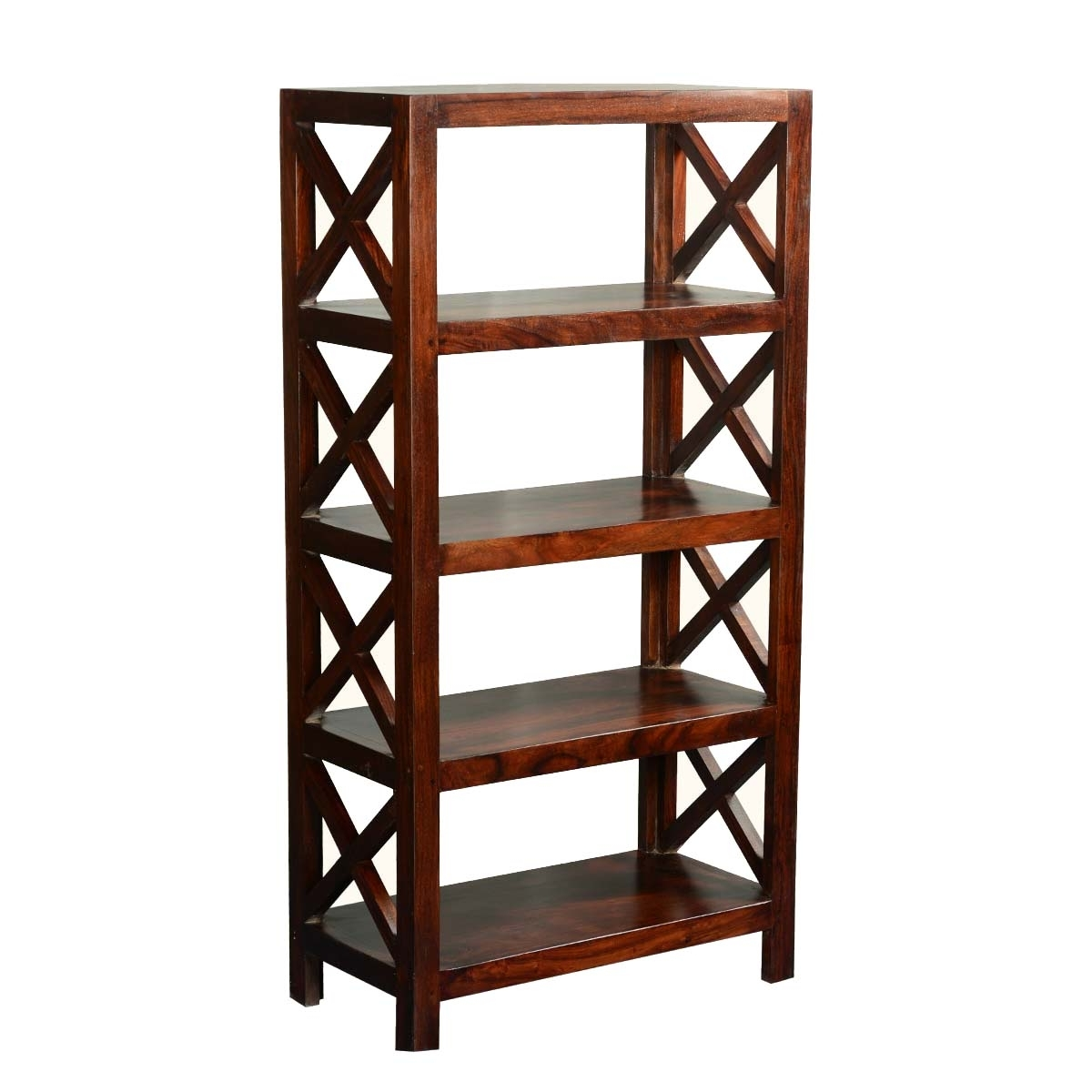 Popular 4 Shelf Bookcases In X Solid Acacia Wood 4 Shelf Bookcase (View 13 of 15)