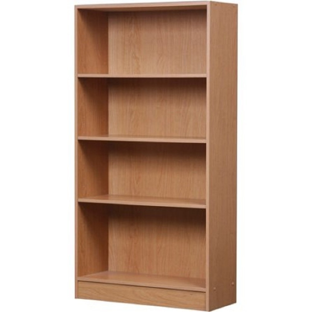 Popular 4 Shelf Bookcases Intended For Amazon: Classic Style 4 Shelf Bookcase With Protective Kick (View 15 of 15)