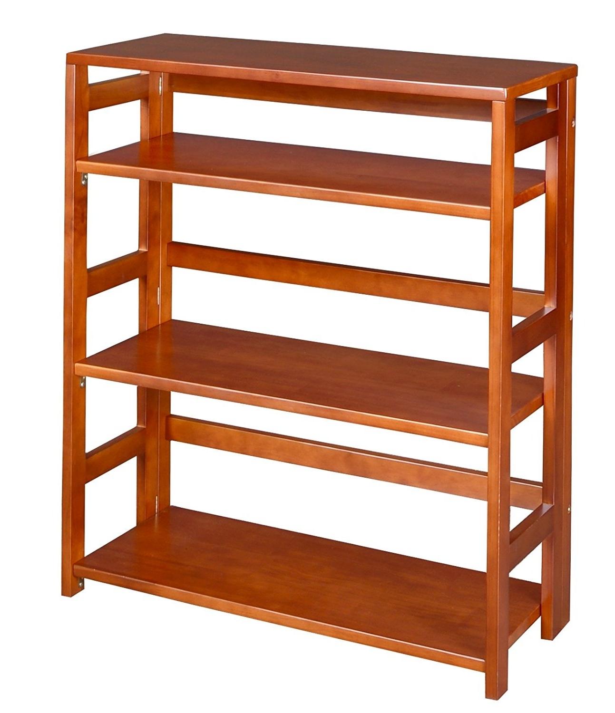 Popular Amazon: Regency Flip Flop 34 Inch High Folding Bookcase Regarding Foldable Bookcases (View 12 of 15)