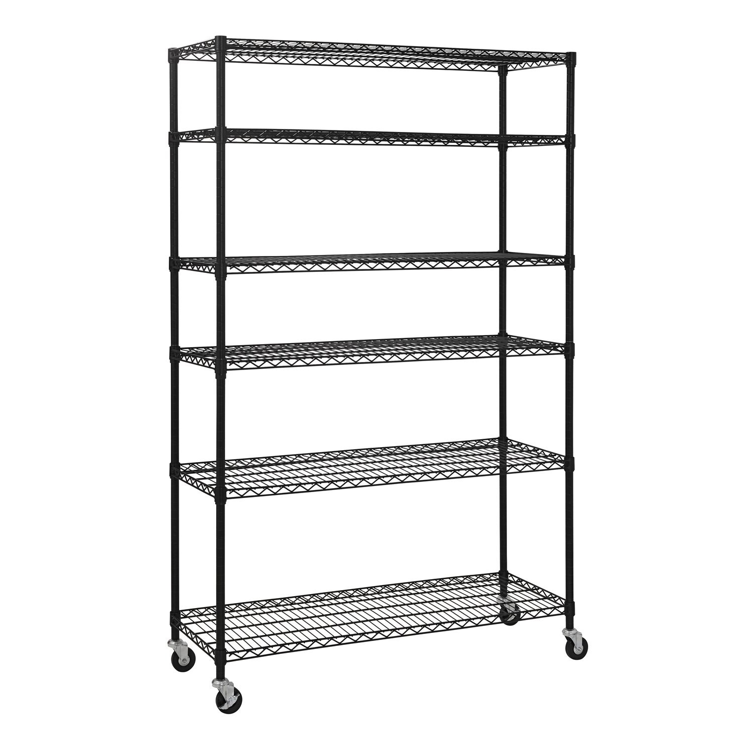 Popular Amazon: Sandusky Lee Mws481874 B 6 Tier Wire Shelving Unit With Regard To Cheap Shelving Units (View 10 of 15)