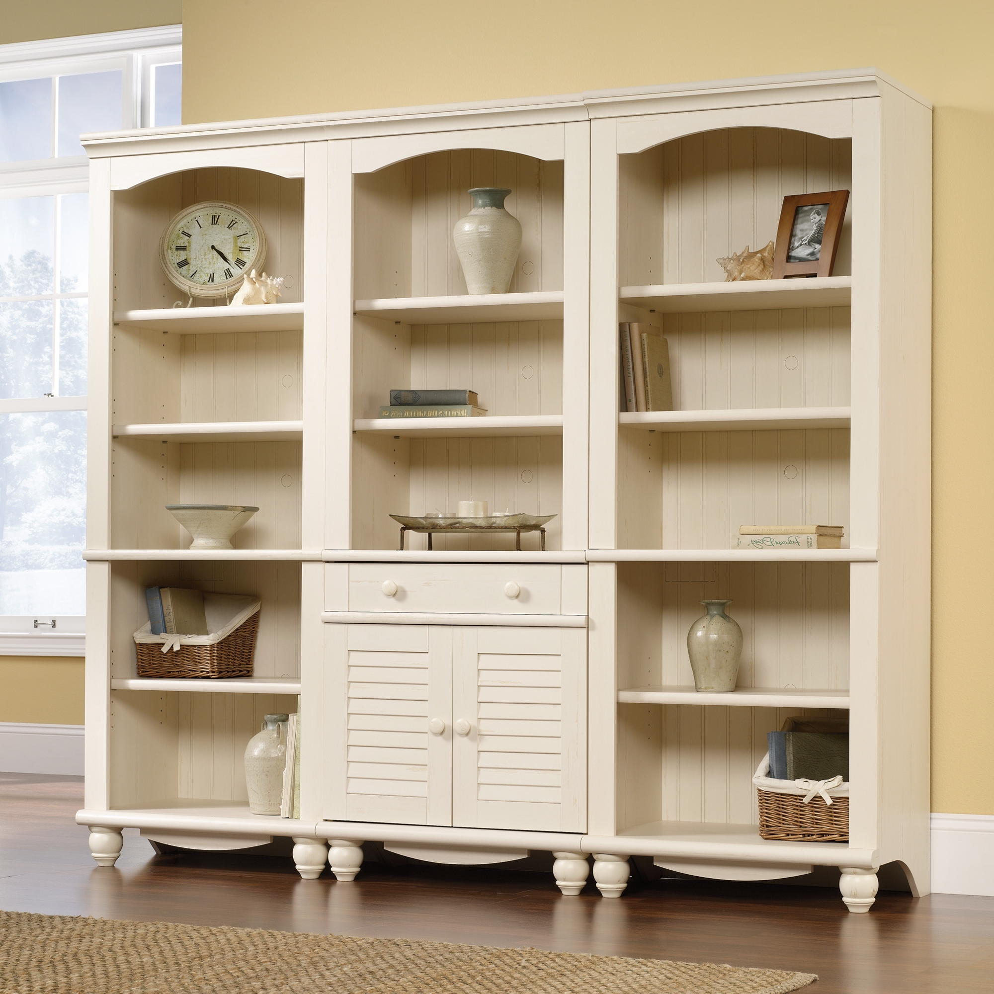 Popular Antique White Bookcases Within Harbor View (View 6 of 15)