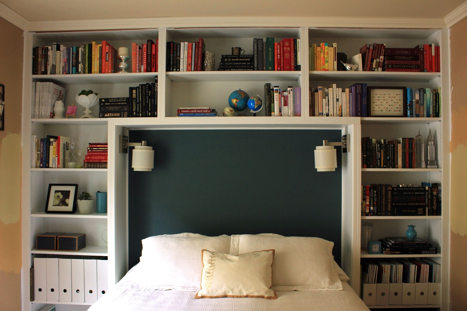 Popular Bed Frames : Bookcase Queen Headboard Platform Frame With Twin Pertaining To Bed Frame Bookcases (View 14 of 15)