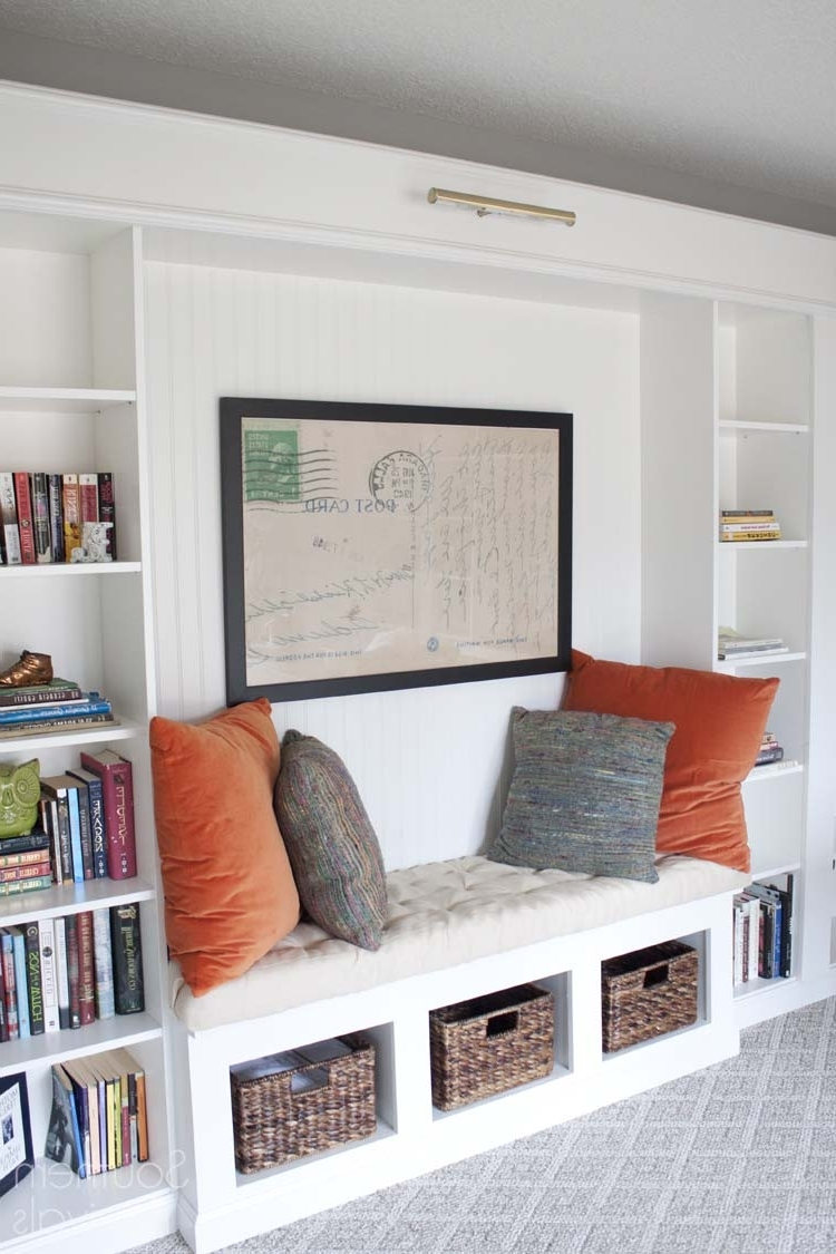 Popular Bench Bookcases With Office Makeover Reveal (View 10 of 15)